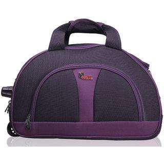F Gear Cooter Polyester Black Purple Medium Travel Duffle bag-22 inch