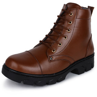 Buwch Men's Brown Ankle Length Boots