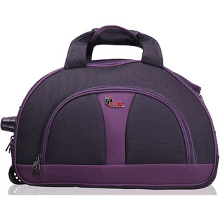 F Gear Cooter Polyester Black Purple Large Travel Duffle bag-24 inch