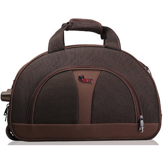 F Gear Brown Polyester Duffel Bag (No Wheels)