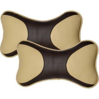 Pegasus Premium Leatherite Car Pillow Cushion For Maruti Alto 800 (Rectangular, Pack of 2)