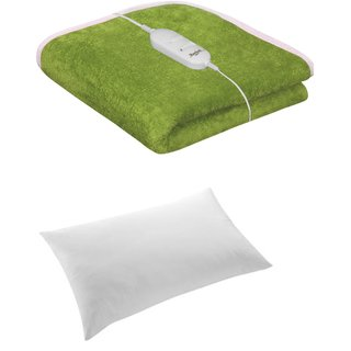 Combo - Winter Single Bed warmer cum Electric Blanket With 1 fiberfill Pillow