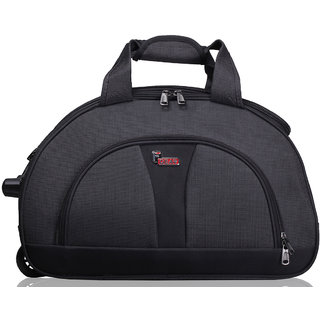 F Gear Cooter Polyester Grey Black Large Travel Duffle bag-24 inch