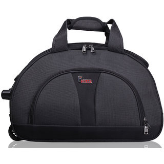 F Gear Cooter Polyester Grey Black Medium Travel Duffle bag-22 inch