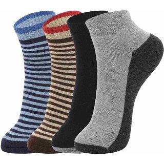DUKK Multi Pack Of 4 Ankle Socks