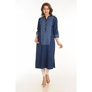 Innovative women Denim Printed Kurti