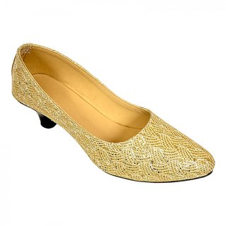 Altek Desginer Golden Heel Ballerina (foot1334golden)