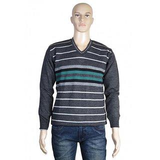 Modo Vivendi Winter Woolen Reversible Sweater For Men Best Designer Stylish Gents Warm Winter Stripped Sweater
