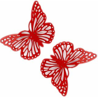 Deziworkz Butterfly Fridge Magnet (2.5 Inches, Set of 2)