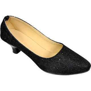 Altek Desginer Shine Black Heel Ballerina (foot1335black)