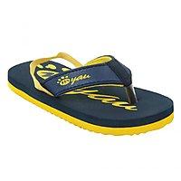 Myau Boys  Girls Navy Yellow Slipper Flip Flop