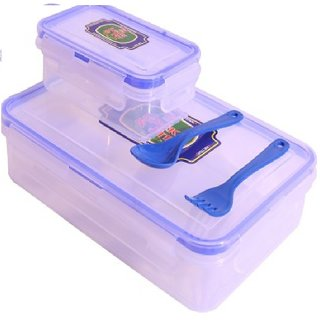 Silverware Lock n Lock Transparent Kids  Lunch Box 500 ml with spoon and fork