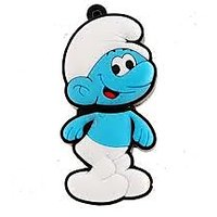 Microware 16GB Smily Smurfs Boy Shape Designer Fancy  Pendrive
