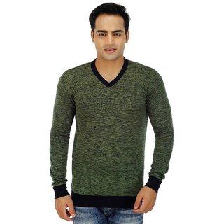Inkdice woolen blend multicolor V Neck Sweater
