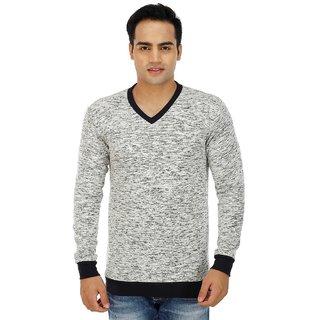Inkdice woolen cotton blend v-neck multicolor sweater for men