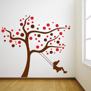 Decor Villa Alone Girl Wall Decal & Sticker