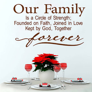 Decor Villa Our Family Wall Decal & Sticker
