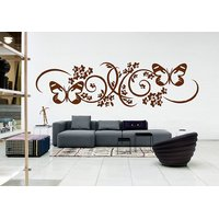 Decor Villa Floral With Butterflay Wall Decal & Sticker