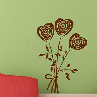 Decor Villa Heart Flower Wall Decal & Sticker
