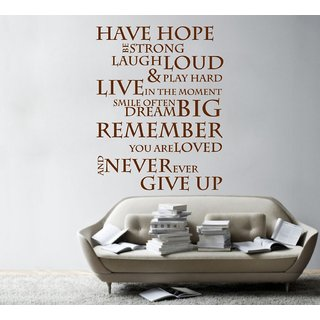 Decor Villa Hope Wall Decal & Sticker
