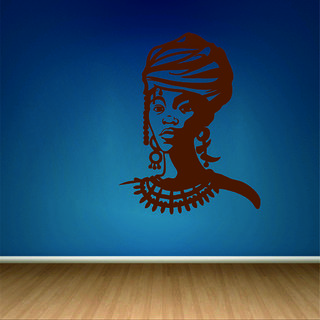 Decor Villa Black Girl Wall Decal & Sticker