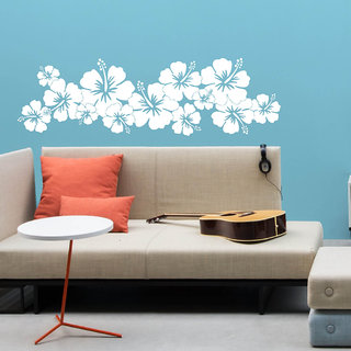 Decor Villa Hibiscus Wall Decal & Sticker