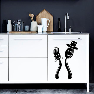 Decor Villa Couple Kitchen Wall Sticker (17 X 27) Inch