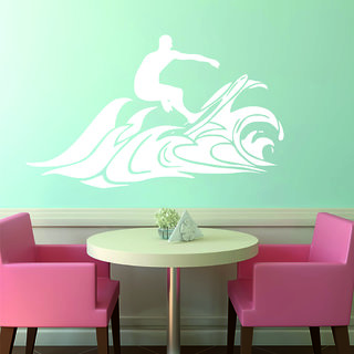Decor Villa Suffering Man On Watar Wall Decal & Sticker