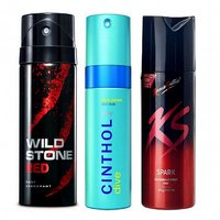Amazing Crazy Combo - KAMASUTRA, CINTHOL, and WILDSTONE (Set of 3 pcs)-150 ml each