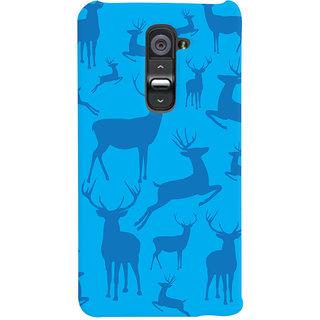 Oyehoye Animal Pattern Style Printed Designer Back Cover For LG G2 / Optimus G2 Mobile Phone - Matte Finish Hard Plastic Slim Case