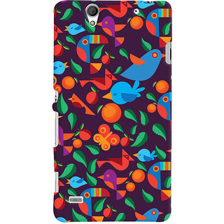 Oyehoye Birds Pattern Style Printed Designer Back Cover For Sony Xperia C4 / Dual Sim Mobile Phone - Matte Finish Hard Plastic Slim Case