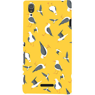 Oyehoye Birds Pattern Style Printed Designer Back Cover For Sony Xperia T3 Mobile Phone - Matte Finish Hard Plastic Slim Case