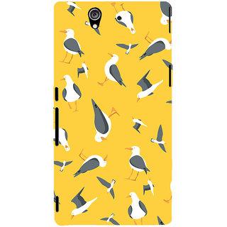 Oyehoye Birds Pattern Style Printed Designer Back Cover For Sony Xperia Z Mobile Phone - Matte Finish Hard Plastic Slim Case