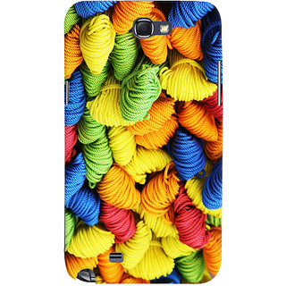 Oyehoye Colourpul Pattern Style Printed Designer Back Cover For Samsung Galaxy Note 2 Mobile Phone - Matte Finish Hard Plastic Slim Case