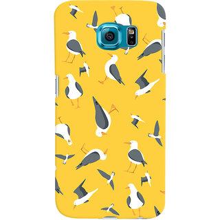 Oyehoye Birds Pattern Style Printed Designer Back Cover For Samsung Galaxy S6 Mobile Phone - Matte Finish Hard Plastic Slim Case