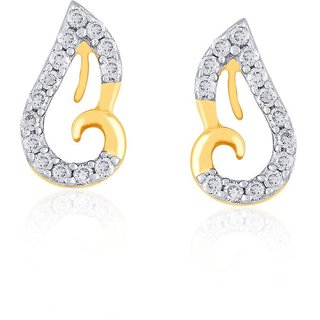 Beautiful sparkling diamond  Earrings IDE00345SI-JK18Y