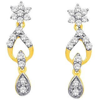 Beautiful sparkling diamond  Earrings DDE02171SI-JK18Y