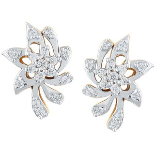 Beautiful sparkling diamond  Earrings PE20470SI-JK18Y