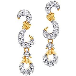 Beautiful sparkling diamond  Earrings IDE00385SI-JK18Y