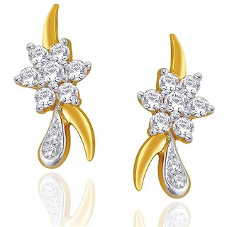 Beautiful sparkling diamond  Earrings NERC347SI-JK18Y