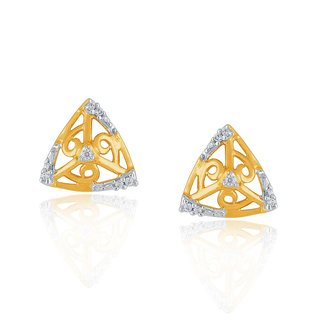 Beautiful sparkling diamond  Earrings BAEP703SI-JK18Y