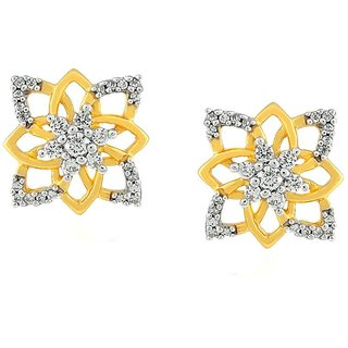 Beautiful sparkling diamond  Earrings PE21255SI-JK18Y
