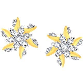 Beautiful sparkling diamond  Earrings NERC425SI-JK18Y