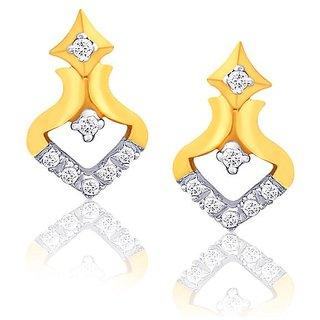 Beautiful sparkling diamond  Earrings DDE02343SI-JK18Y