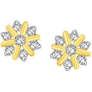 Beautiful sparkling diamond  Earrings NNPER023SI-JK18Y
