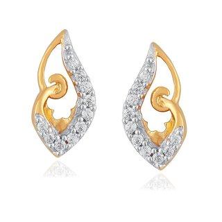 Beautiful sparkling diamond  Earrings PE13161SI-JK18Y