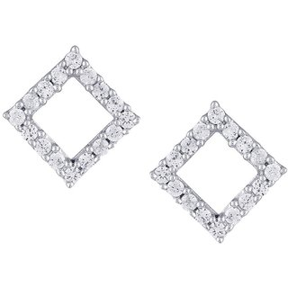 Beautiful sparkling diamond  Earrings EE464SI-JK18Y