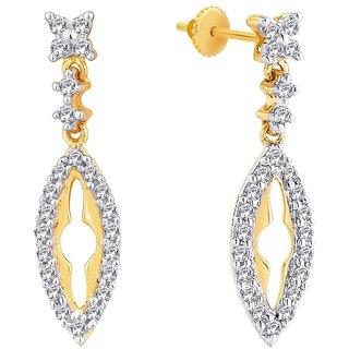 Beautiful sparkling diamond  Earrings PRA2E3607SI-JK18Y