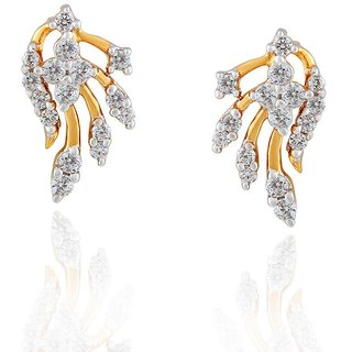 Beautiful sparkling diamond  Earrings EE510SI-JK18Y