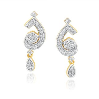 Beautiful sparkling diamond  Earrings GWTE0007SI-JK18Y